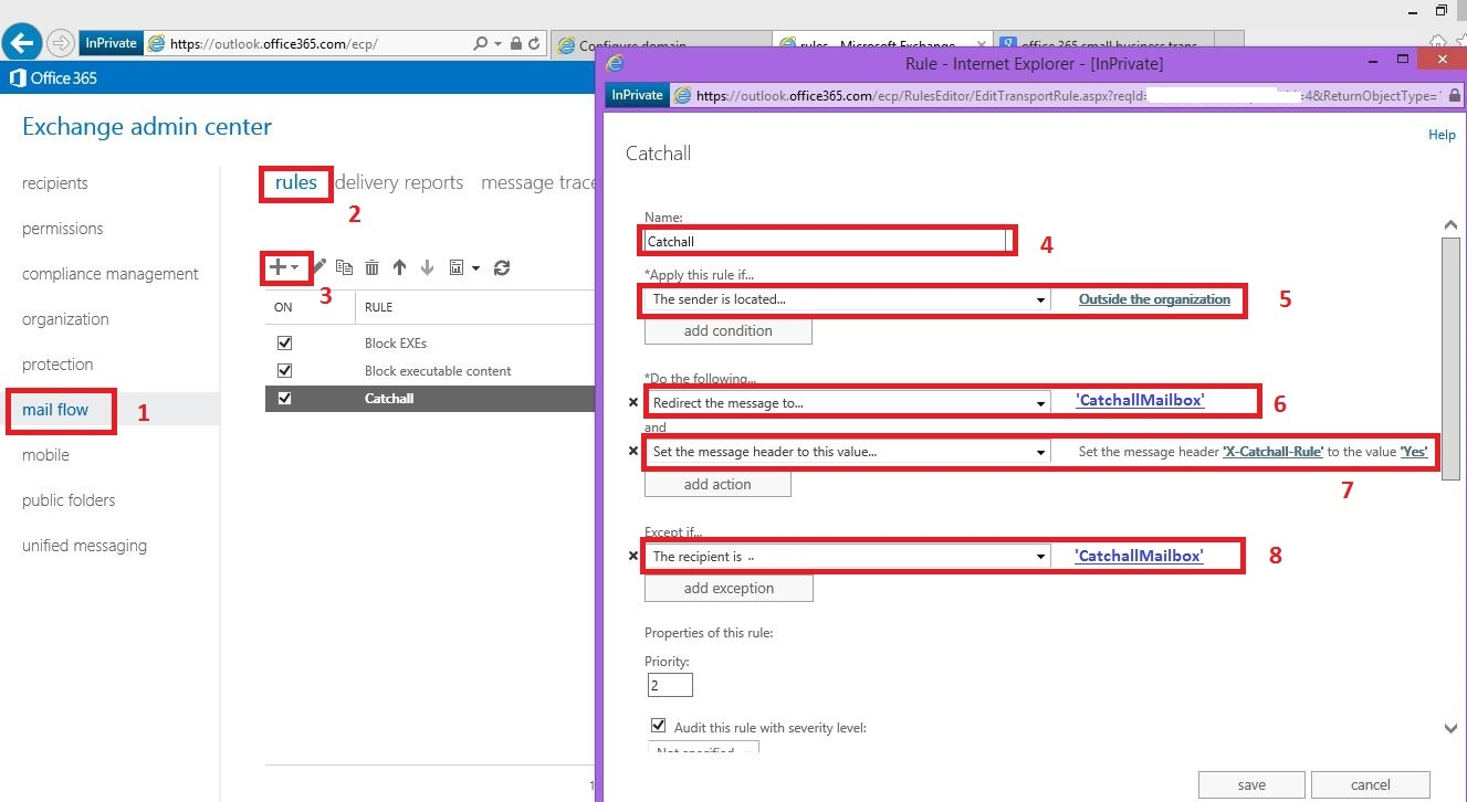 Office 365: How to create a catchall wildcard address in
